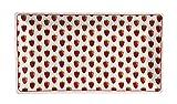 Krasilnikoff - Teller, Tablett - Erdbeeren - rechteckig - rot, weiß - Porzellan - 14 x 26 cm