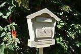 Briefkasten HBK-SD-HELLGRAU aus Holz hell grau weiss weiß amazon silbergrau Briefkästen Holzbriefkästen Postkasten Spitzdach - passt auch zu vielen Vogelhäusern Vogelhaus Insektenhotel Insektenhotels Vogelhäuser aus Holz Ergänzung für Vogelhäuschen und Vogelfutterhaus Nistkasten Meisenkasten