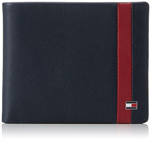Tommy HilfigerCOLOR BLOCK CC - Portafogli Uomo , Blu (Blau (Midnight/Biking Red 902 902)), 12x10x3 cm (B x H x T)