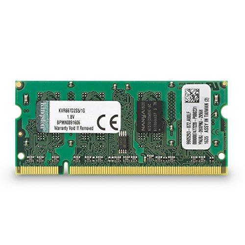 Kingston KVR667D2S5/1G Arbeitsspeicher 1GB (DDR2 Non-ECC CL5 SODIMM, 200-pin, 1.8V) -