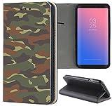 Handyhülle für Samsung Galaxy A3 2016 Premium Smart Einseitig Flipcover Flip Case Hülle Samsung A3 2016 Motiv (319 Army Muster Dunkel Grün Braun)
