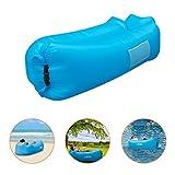 IceFox sofa-5 Luftsofa Wasserdichtes Air Lounger mit Tragebeutel, zum Schlafen Im Freien, Im Innenbereich, zum Zurücklehnen und Entspannen, Aufblasbarer Sitzsack für Camping|Den Strand| zum Fis, Nylon, 12