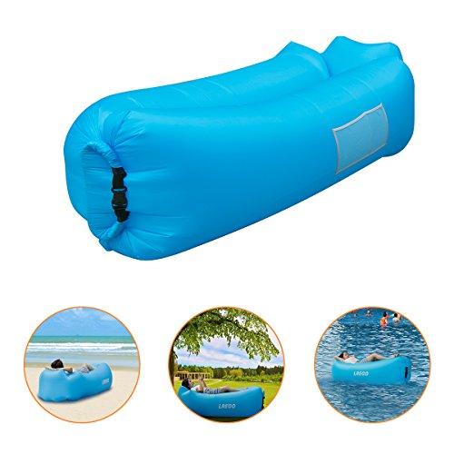 Preisvergleich Produktbild IceFox Sofa-5 Luftsofa,  Wasserdichtes Air Lounger mit Tragebeutel,  zum Schlafen im Freien,  im Innenbereich,  zum Zurücklehnen und Entspannen,  Aufblasbarer Sitzsack für Camping / den Strand / zum Fis,  Nylon,  12
