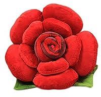 Bigood Coussin Peluche Oreiller Forme Fleur Jouet Fantaisie Décor Salon Rouge Hauteur 30cm