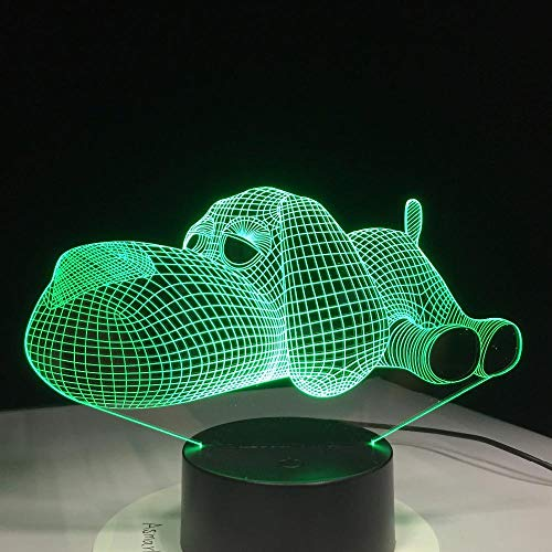 h Hund Cartoon Zuhause Dekor Tischleuchte,Optische Illusion Led Nachtlampe Usb Tischlampe, Für Kinder Weihnachten Geburtstag Beste Geschenk Spielzeug ()