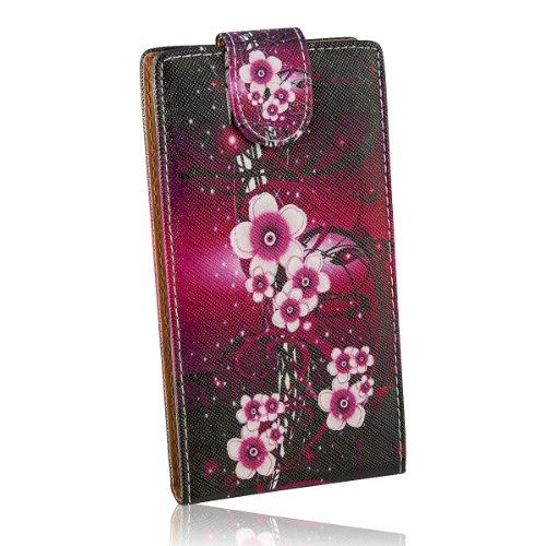Handy Tasche Fliptasche Klapptasche Flip Case Kunstleder für Huawei Ascend G700 / Schutzhülle Etui Hülle - Design FC118