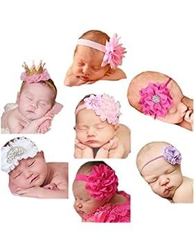 Emitha Baby Stirnbänder Baby Mädchen Stretch Nett Kaninchenohren Gedruckt Turban Stirnband Kopf Handgefertigte...