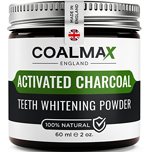 - 51RQqZRj9LL - Activated Charcoal Teeth Whitening Powder – 100% Natural, Vegan Teeth Whitener, Better Than Charcoal Toothpaste (Made in UK)