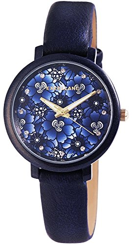 trend-wares-damen-armbanduhr-blau-blumen-analog-quarz-metall-leder-modisch-old-fashion-damenuhr