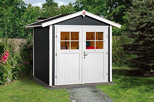 Weka Gartenhaus 224 Größe 2 mit Doppeltür anthrazit
