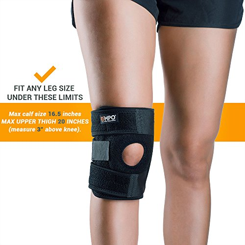 Knee-Support-Brace-Ligament-Damage-EMPO-LIFETIME-WARRANTY-Perfect-for-Running-Jogging-Training-Soccer-and-other-Sports-Joint-Pain-Relief-Arthritis-and-Injury-Recovery-Maximum-Comfort-Fully-Adjustable-