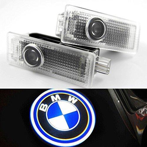 OUTOWIN Sportello d'auto LED illuminazione di cortesia proiettore laser marchio dell'ombra del fantasma della luce Series per BMW 3 5 6 7 con logo M Confezione da 2