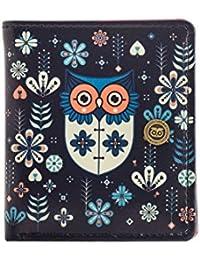 CHUMBAK Blue Flower Owl Women's Wallet