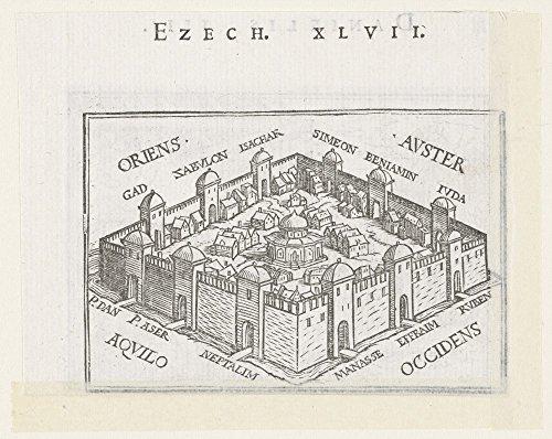Der Museum Steckdose-Himmlische Stadt in Ezekiel 's Vision, 1538-Leinwanddruck Online kaufen (152,4x 203,2cm)