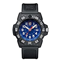 Luminox new NavySEAL carbon compound 3500 series Watch with carbon compound Case Blue|White Dial and PU Black Strap XS.3503