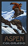 Northwest Art Mall Aspen Colorado Snowboard Jumping SBJ Art Wand von Paul A. lanquist, 27,9 cm von 43 cm