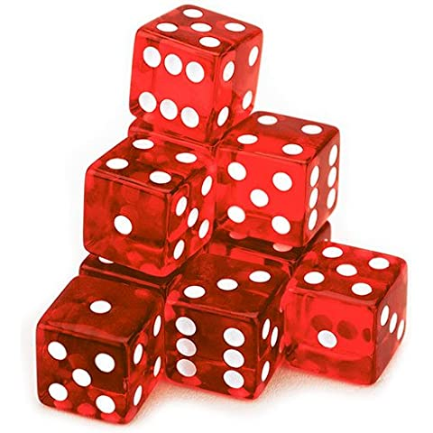 10 Red Dice – 19 mm