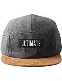 Accessoryo - gris ultime unisexe sentait cinq panneau chapeau brun avec un pic
