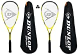 Dunlop nanomax Ti Lite Squash Speler + tasje beschermhoes