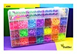 M&G Rainbow Colour DIY Loom Band Kit with 4200 Colourful Rubber Bands