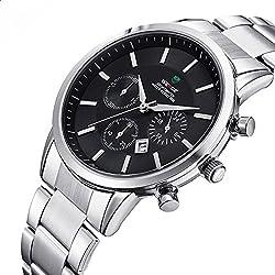 ufengke® casual waterproof wrist watch for men,luxury calendar watch,black,decorative small dials