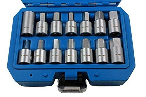 US PRO 14pc 3/20,3 cm DR de clés de vidange d'huile de vidange vidange Boîte de Vitesse essieu Moteur réparation 3225