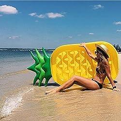 SKYTEARS Piña Hinchable colchonetas Piscina Inflable Flotador Gigante de Piña (E)