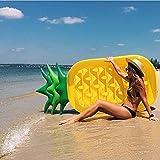 SKY TEARS Ananas Aufblasbare Luftmatratze, Aufblasbarer Ananas Luftmatratze Pool Party für Erwachsene & Kinder