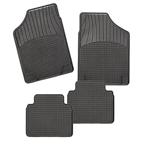 CarFashion Allwetter Schalenmatte B2, Auto Fussmatten Set in schwarz, 4-teilig, ohne Mattenhalter für Ford Mustang Coupé , Baujahr 01/2005-00/2009