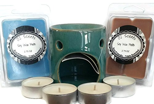 Price comparison product image O2 Scents - Blueberry Cheesecake and Hazelnut coffee - 7 Piece Wax Melt and Warmer Starter Set