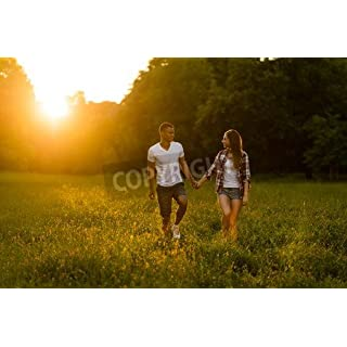 adrium Summer walk - young couple dating in nature(72200610), Canvas, 80 x 50 cm