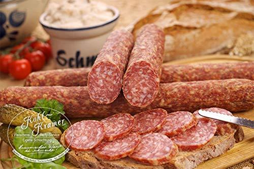 Die Weltmeister Wurst! Ahle Wurst nordhessische Spezialität - Stracke edel Salami luftgetrocknet - Mettwurst 400 gr