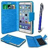 N4U Online® - Parla Gala PU-Leder Saugnapf Mappen-Kasten-Abdeckung & High Sensitive Stylus Pen - Blau