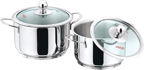 Vinod Cookware Induction Friendly Tuscany Set, 2-Pieces