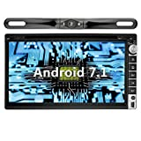 YINUO 6.95'' Zoll Android 7.1.1 Nougat 2GB RAM Quad Core 2 DIN universal Autoradio Moniceiver GPS Navigation mit Bluetooth DVD-Spieler IPOD und USB SD Funktion (Autoradio mit Kamera 5)