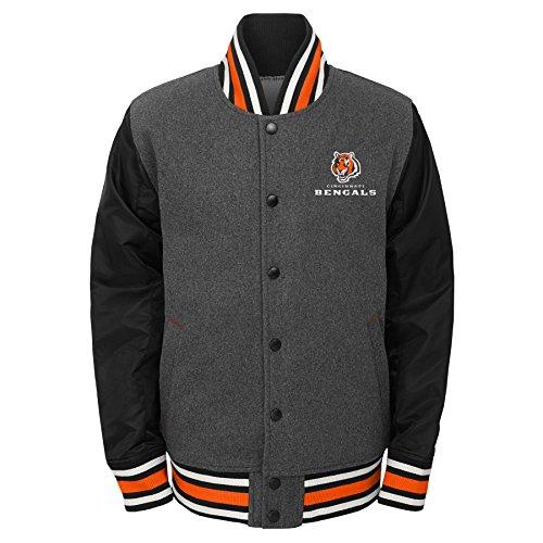 terman Varsity, Jungen, Letterman Varsity Jacket, anthrazit, Youth X-Large (18) ()