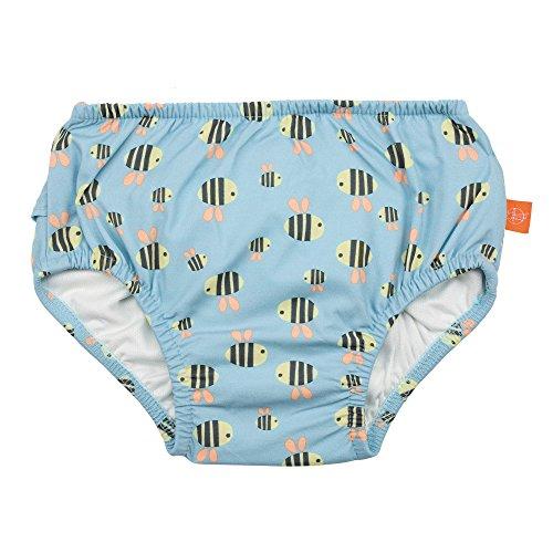 LÄSSIG Baby Schwimmwindel Badewindel wiederverwendbar waschbar Auslaufschutz Junge Mädchen UV-Schutz 50+/Splash & Fun Baby Swim Diaper, Bumble Bee, 12 Monate, mehrfarbig -