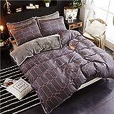 AZSUR Vier Stück Baumwolle bedeckt Bettdecke, Reine Baumwolle Korallen Haufen Bettwäsche, Herbst und Winter Warmes Bett Gesetzt, 1,5 * 2,0 m, Zeit