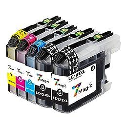 Brother LC123XL Compatible, 7Magic Cartucho de tinta LC123XL Compatible con Brotehr MFC-J4510DW MFC-J6920DW MFC-J6520DW MFC-J470DW MFC-J870DW DCP-J132W