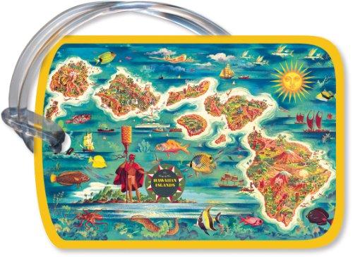 gepckanhnger-mit-klassischem-hawaiianischem-motiv-dole-map-of-hawaiian-islands-von-joseph-fehr