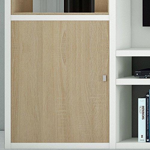 Wohnwand TV-Kombination TOLEO238 Lack weiß, Eiche Sonoma - 3