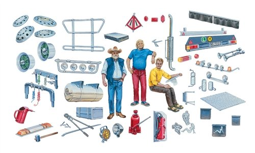 Italeri - I720 - Maquette - Voiture et Camion - Accessoires Camions - Echelle 1:24