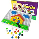 Educativos Colorido Mosaico Pared Perforada Forma de Rompecabezas Juguetes de Inteligencia Puzles del Juego de Mesa Bloques de Conjunto para los niños