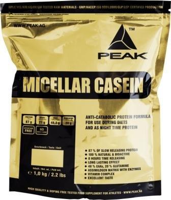 Peak Micellar Casein  Cookies & Cream, 1er Pack (1 x 1 kg)