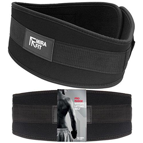 MiraFit Pro Range Gewichthebergürtel für Fitnessstudio und Kreuzheben Abbildung 2