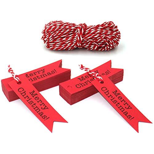 Geschenkanhänger Frohe Weihnachten.Jijacraft 100 Stück 7 2 Cm Frohe Weihnachten Geschenkanhänger
