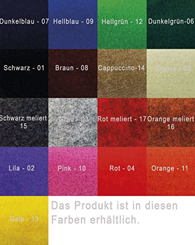 Venetto Umhängetasche Herren Damen Unisex Schultertasche Freizeit Business Tasche aus Filz mit Echtleder-Applikationen (Schwarz Meliert) Lila