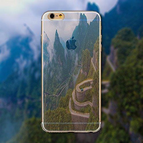 Coque iPhone 7 Housse étui-Case Transparent Liquid Crystal en TPU Silicone Clair,Protection Ultra Mince Premium,Coque Prime pour iPhone 7-Paysage-style 7 23