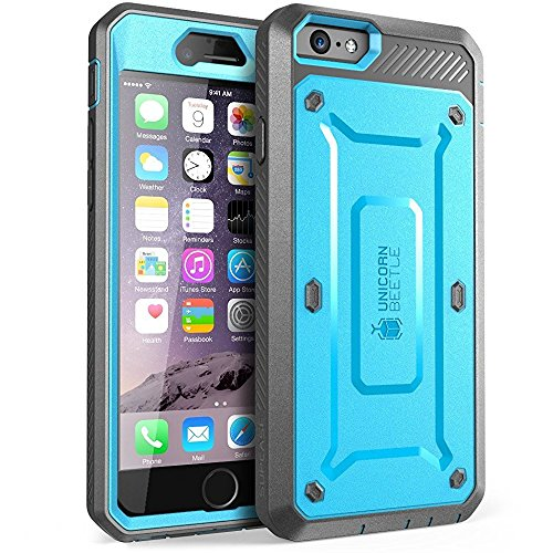 �lle, Apple iPhone 6 Hülle, iPhone 6 case, blau/schwarz ()