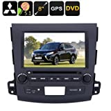 2 DIN Car DVD Player Mitsubishi Outlander – 8 Zoll HD Display, Android, CPU Quad-Core, Region DVD Gratis